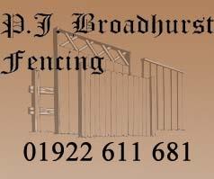 P j Broadhurst Fencing
