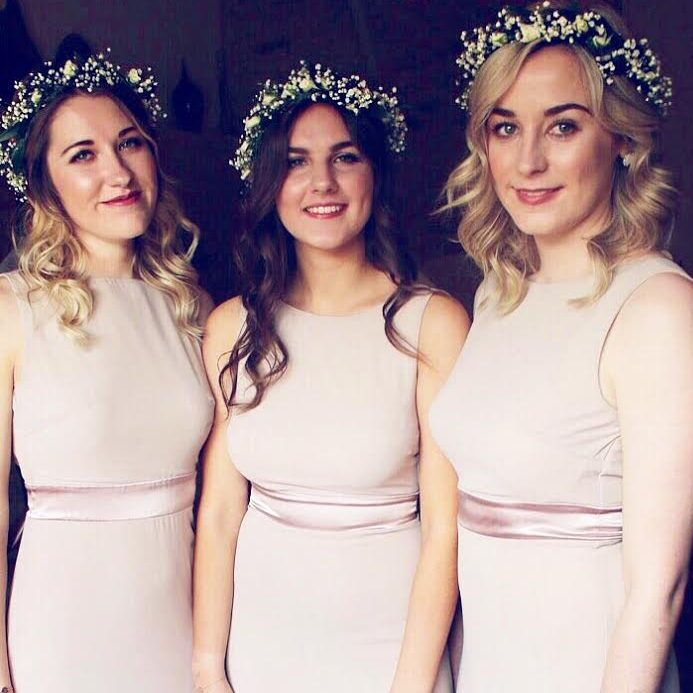 Bridesmaids hairstyling
